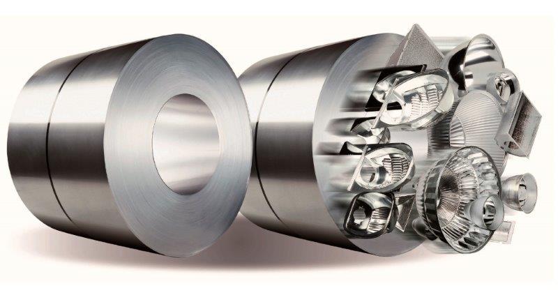 Bobinas de alumínio para refletores