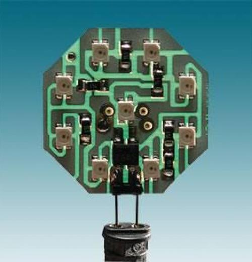 MODULO OCTAGONAL 9 LEDS BRANCO 1W P/A PLAFONIER CT/5503
