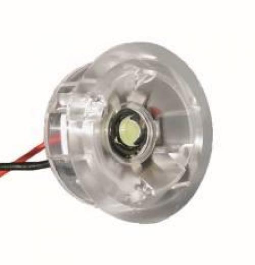 SPOT MINI LED 1,4W 350MA 120GRAUS AZUL ARO TRANSPARENTE