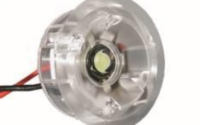 SPOT MINI LED 1,2W 350MA 120GRAUS AMARELO ARO TRANSPARENTE