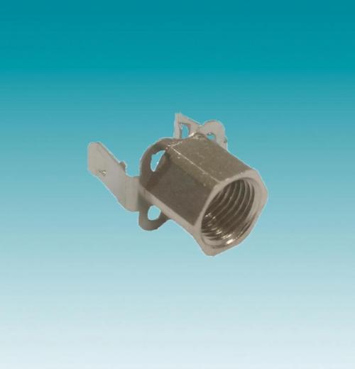 SUPORTE EM ACO COM NIPLE M10X1 P/A SOQ. EA/M5X